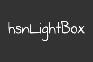 hsnLightBox - Jquery eklentisi